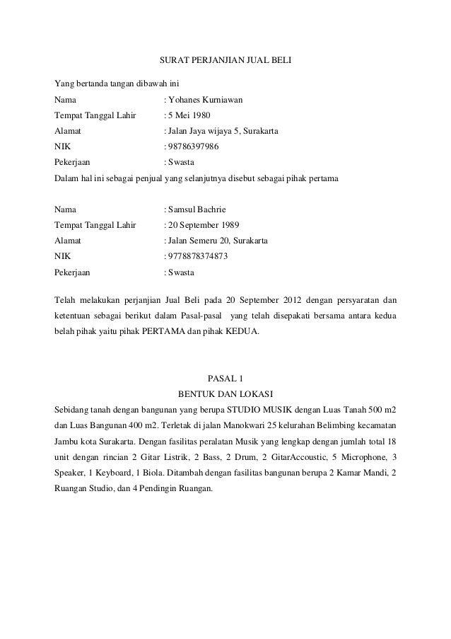 Contoh Surat Perjanjian Jual Beli Invoice Design Curriculum Vitae Design Jual Beli