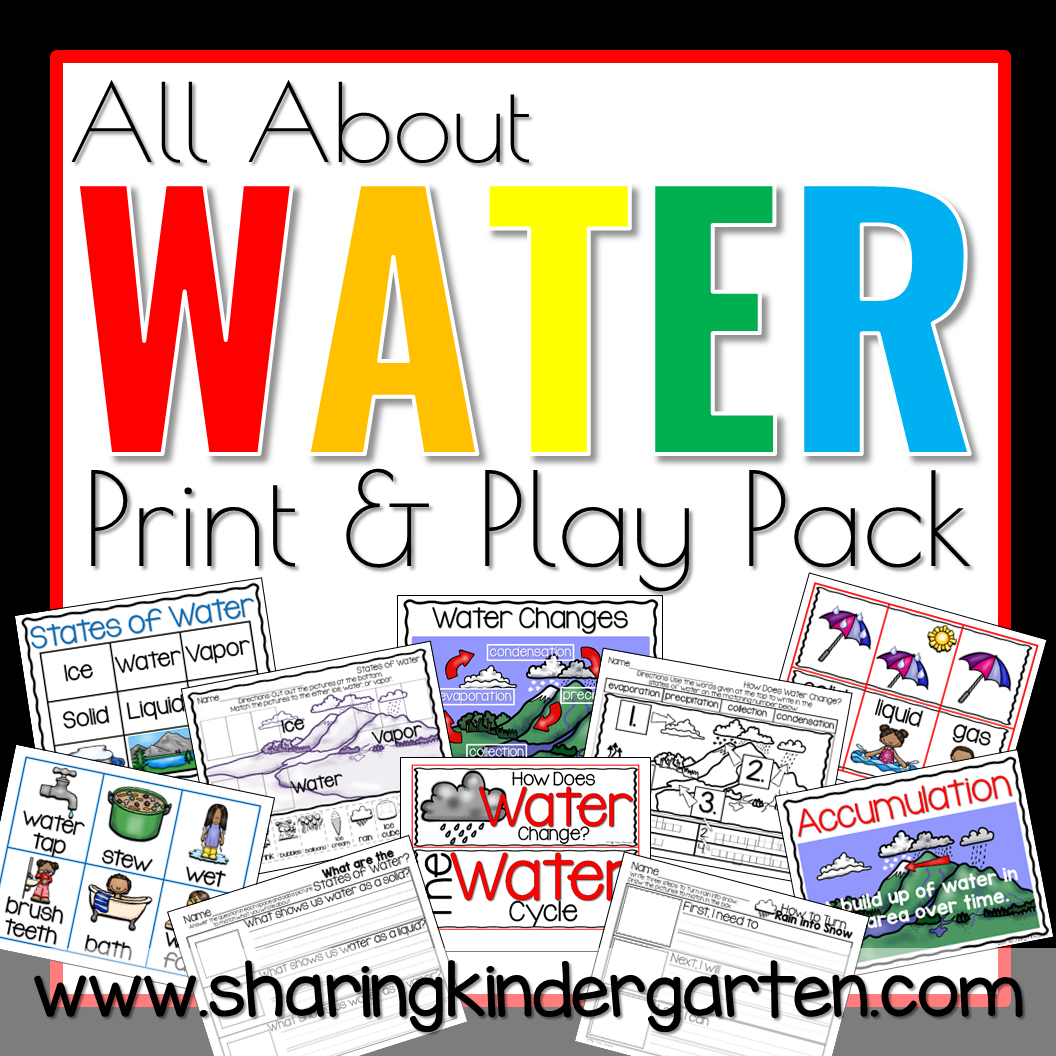 All About Water Print & Play Pack