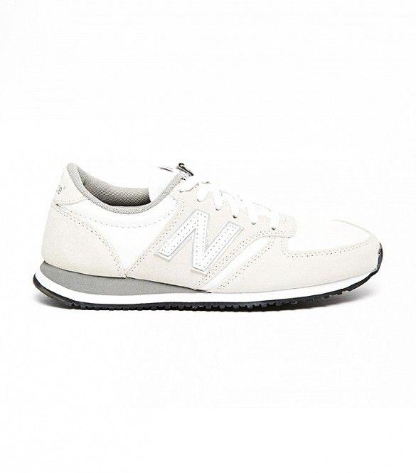 new balance 420 cream suede sneakers