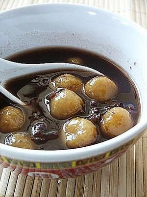 Pumpkin Tang Yuan or Pumpkin Glutinous Rice Balls