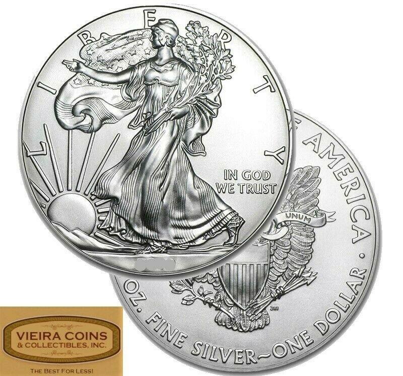 Random Year American Silver Eagle Bu Lot Of 1 One 13252mg American Silver Eagle Silver Eagles Silver Eagle Coins