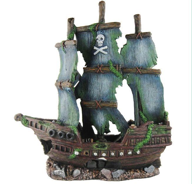 Http Www Ebay Com Itm Sunken Pirate Ship Fish Tank Ornament