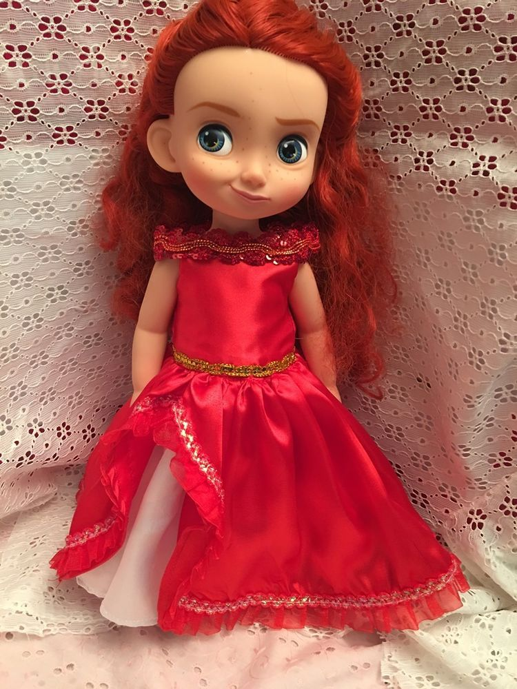No doll Fits 16 inch Disney Animators Doll Clothes Maxi Dress Pink Handmade