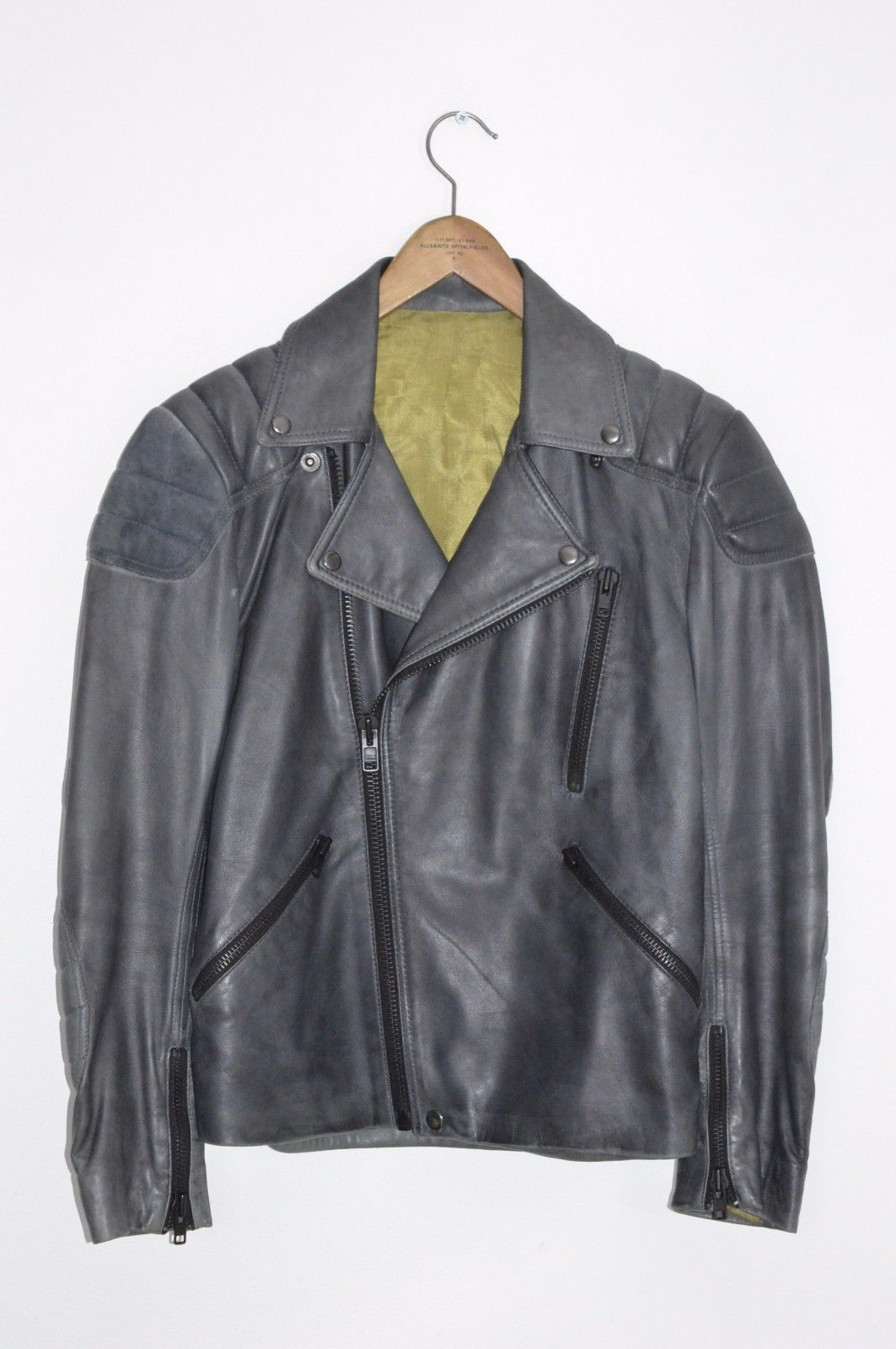 """AWESOME ACNE Mens """"THEO"""" Leather Biker Jacket XSSMALL (46"""