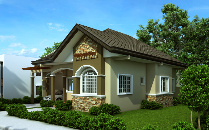 Single Story House Plan Floor Area 90 Square Meters