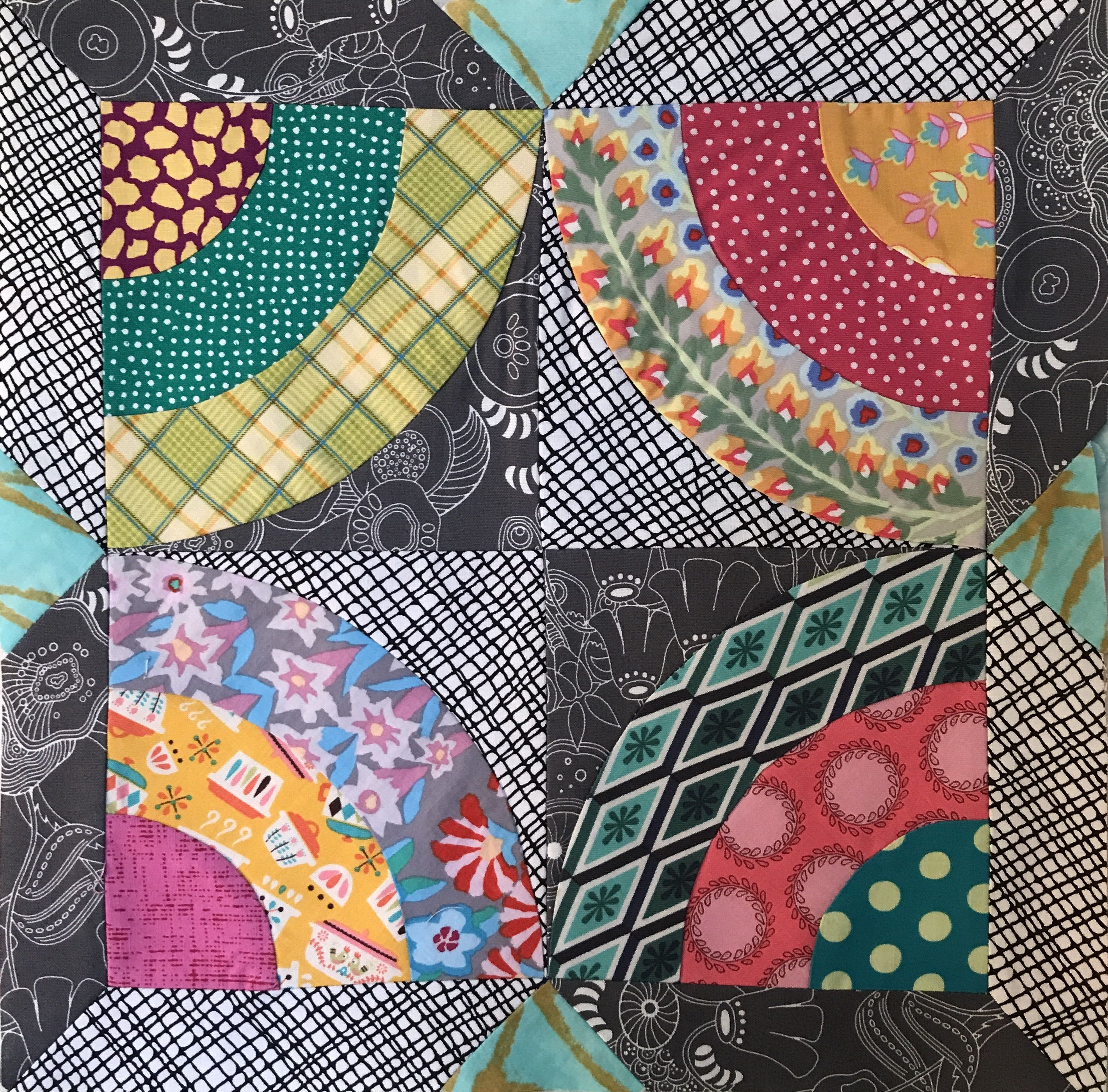 Loving these colors! Month 2 Delilah Quilt BOM #jenkingwell