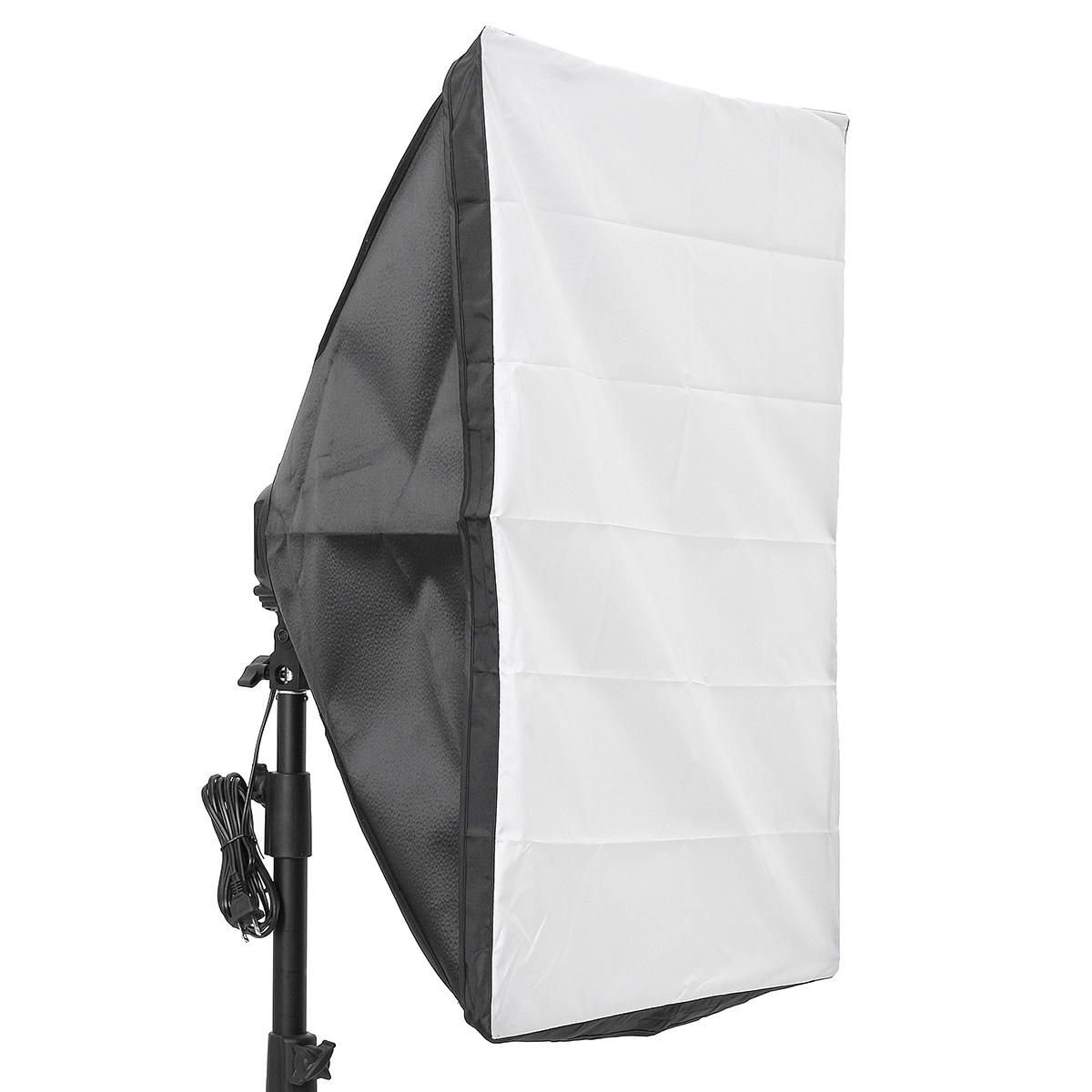 Photo Video Studio Lighting 50x70cm Softbox Light4 Socket E27 Lamp Holder Kit In 2020 Softbox Studio Lighting Lamp Holder