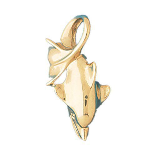 14K GOLD NAUTICAL CHARM - DOLPHIN #415