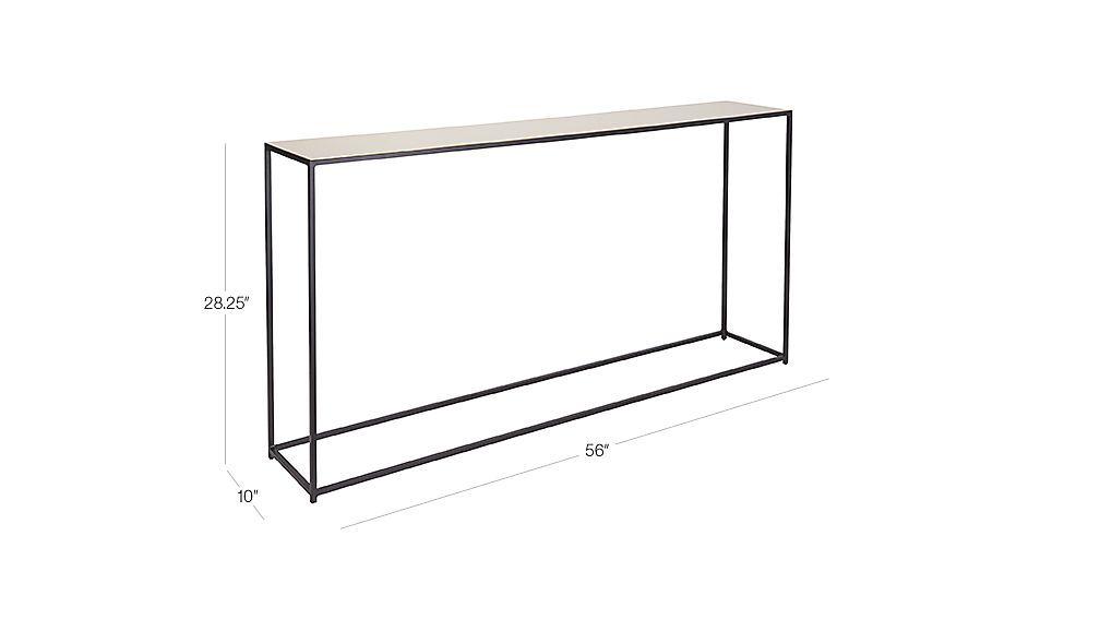 Nolita Tall Console Table CB Colelli LRDining Pinterest - Cb2 sofa table