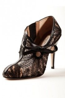 shoe  shoes 1119181  valentino boots heels black lace
