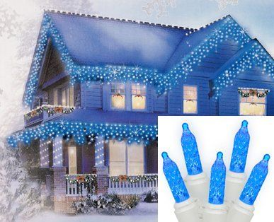 Set Of 70 Blue Led M5 Twinkle Icicle Christmas Lights White Wire With Images Icicle Christmas Lights Led Icicle Christmas Lights Christmas Lights Indoor Decor