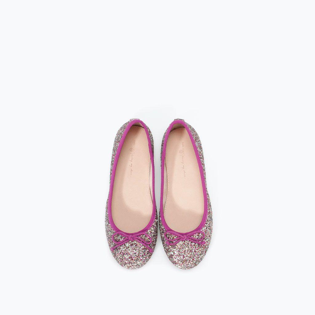 ZARA - NIÑOS - BAILARINA GLITTER | Zapatos para niñas ...
