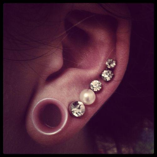 Cute gauges and earrings | Art/ body art | Pinterest ...