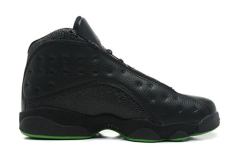 Air Jordans 13 Retro Altitudes Black LeatherAltitude Green For Sale 4WNxa