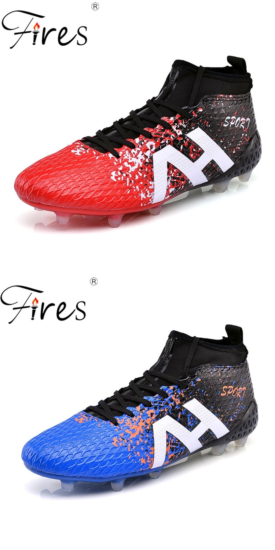 Fires Long Spikes Soccer Shoes Boots For Men Sports Shoes Outdoor Boys  Football Shoes2017 Men High Ankle Original Football Boot 15e4f818fe2
