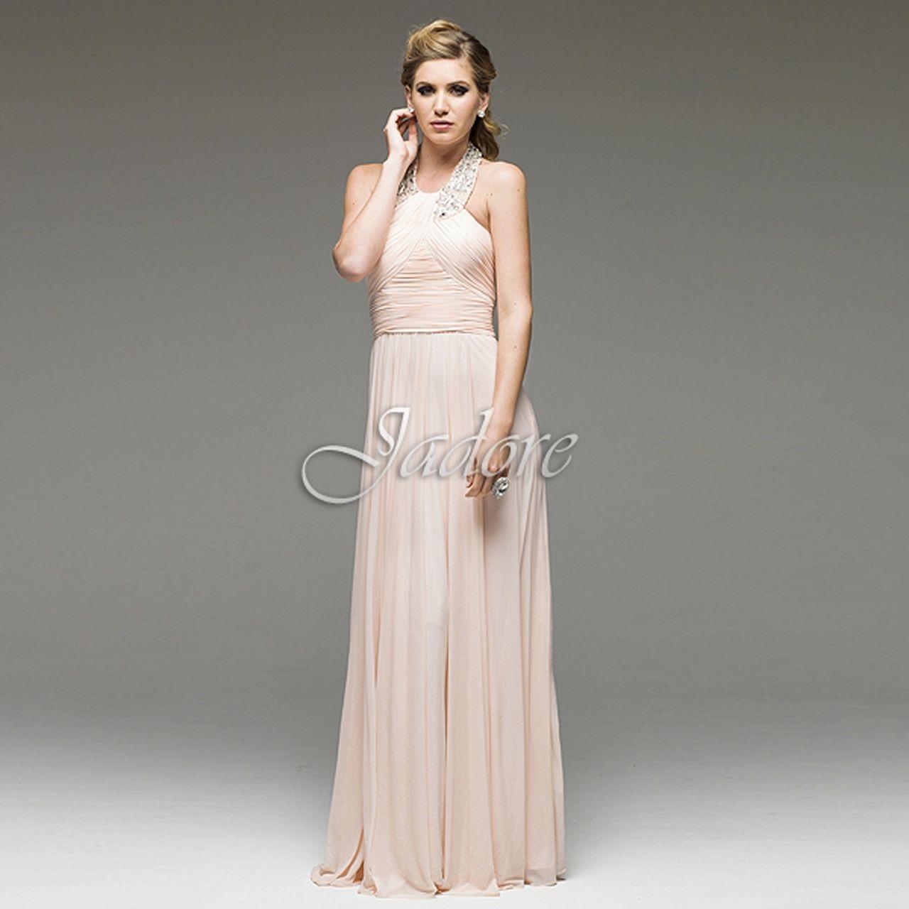 Ashley Embellished Halter Bridesmaid Dresses Baby Pink Bridesmaid Dresses Dresses Halter Bridesmaid Dress