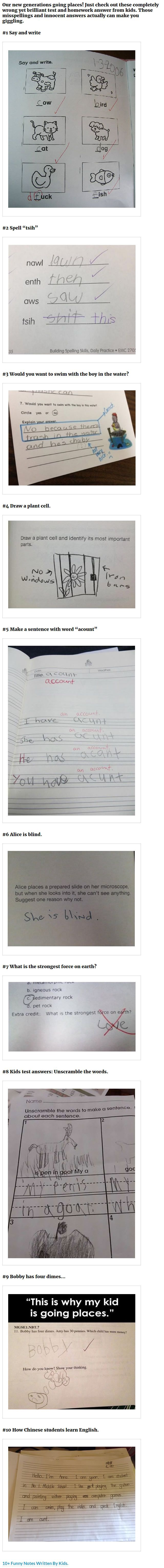 Best Funny Kid Answers Ideas On Pinterest Kids Test Answers - 16 smart ass kids who are clearly going places