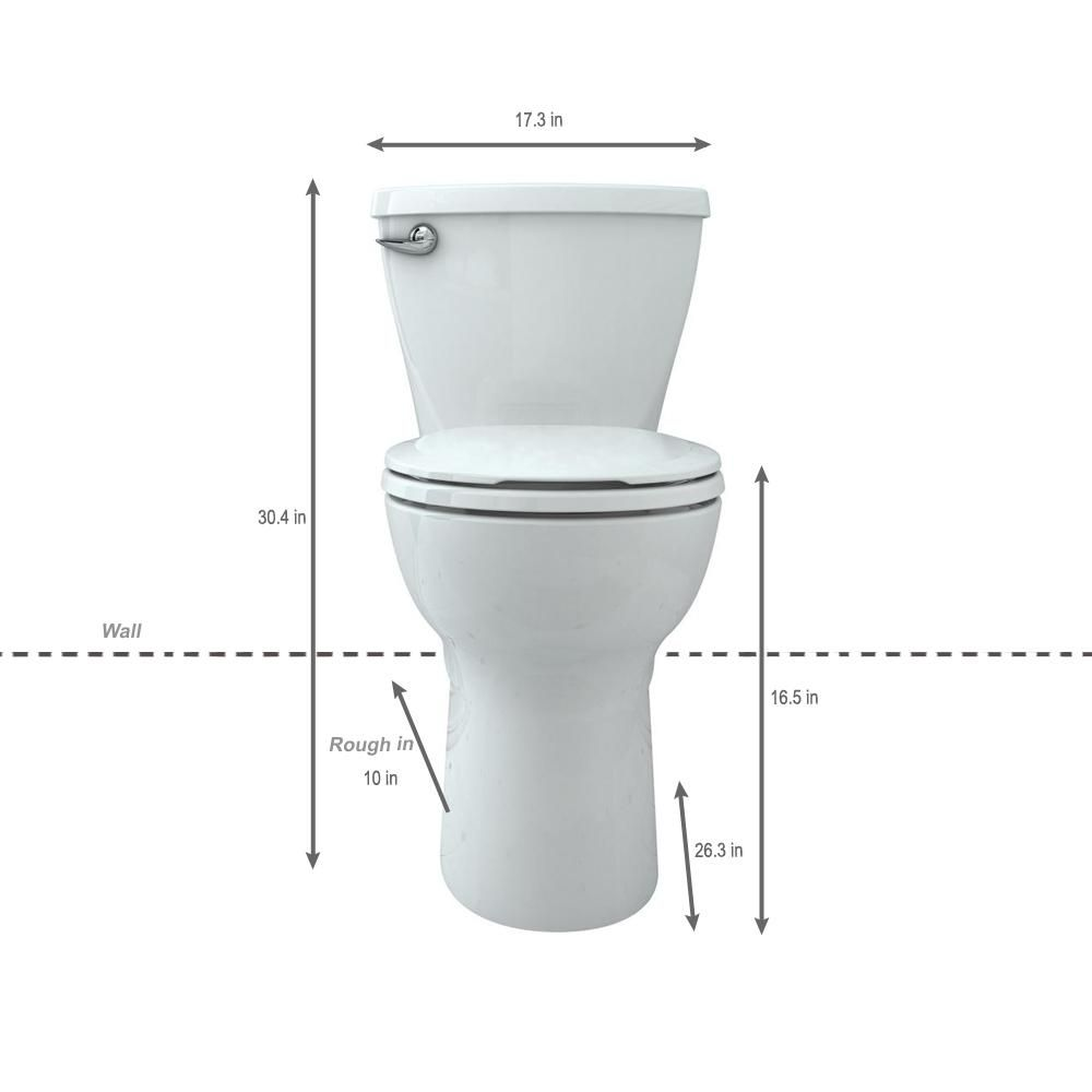 American Standard Cadet Tall Height 10 In Rough In 2 Piece 1 28 Gpf Single Flush Round Toilet In White Slow Close Seat Inc American Standard Toilet 10 Things