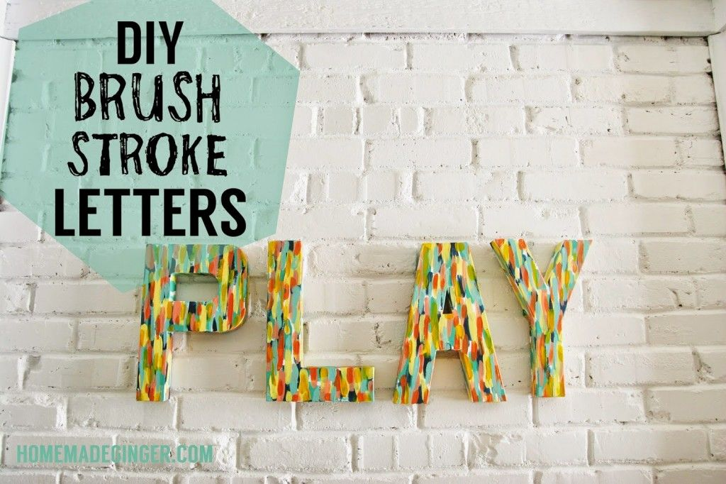 DIY Brush Stroke Letters - Homemade Ginger