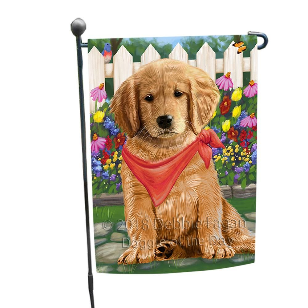 Spring Floral Golden Retriever Dog Garden Flag Gflg49712 Spring