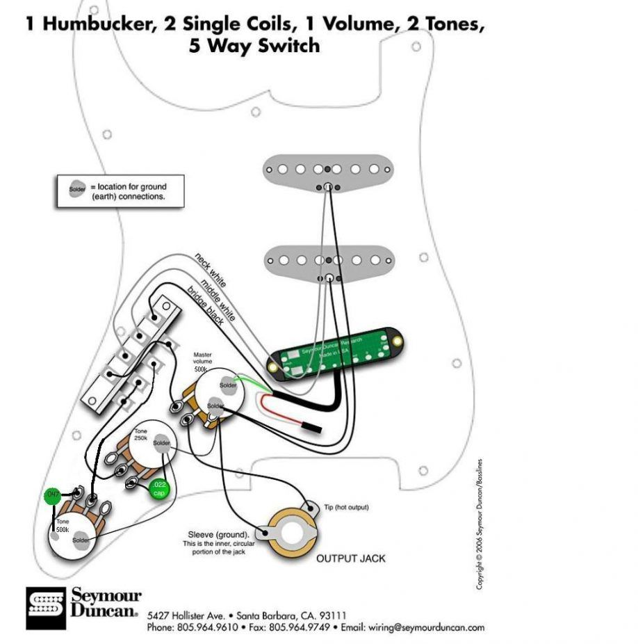 strat 5 way switch 1 volume 2 tone hss wiring diagram wiring Lace Sensor Pickup Wiring Diagram