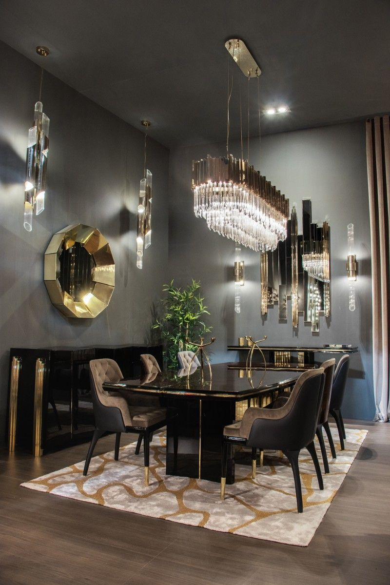 Covet Paris A Showroom With More 300 Products Exhibited Contemporary Dining Room Design Luxury Dining Tables Luxury Dining