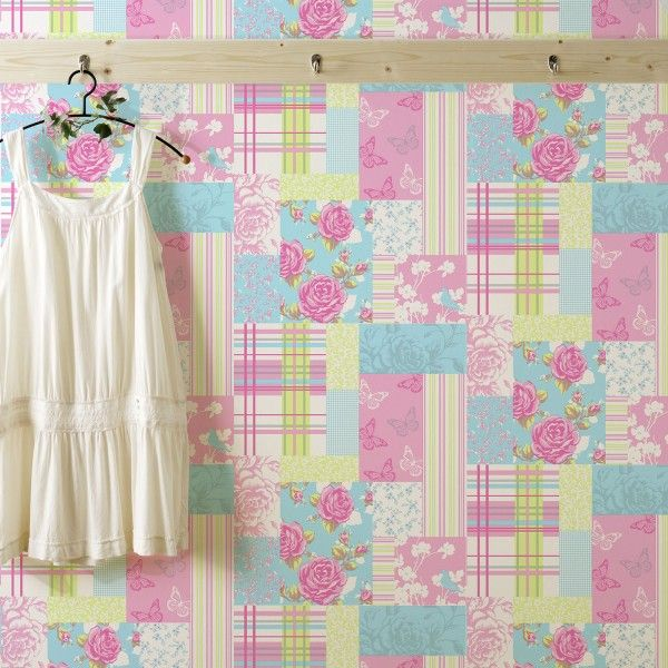 Pollyanna Pink Wallpaper | Feature Wall Wallpaper ...
