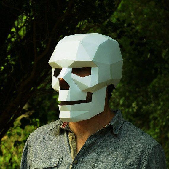 Máscara De Calavera Fácil De Hacer Y Perfecto Para Por