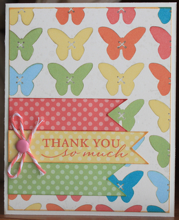 Close to My Heart Dotty for You thank you card by Camile Steenhof  www.craftingwithcamile.blogspot.com