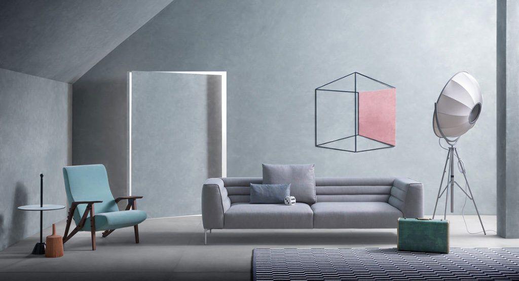guida colori per pareti: soggiorno con pareti in azzurro serenity ... - Colori Soggiorno Grigio