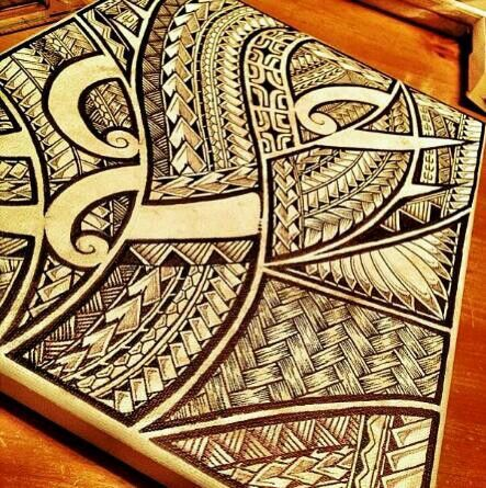 Yes Please On An A2 Canvas Whoever The Artist Is You Are Awesome Samoan Patterns Polynesian Art Samoan Tattoo