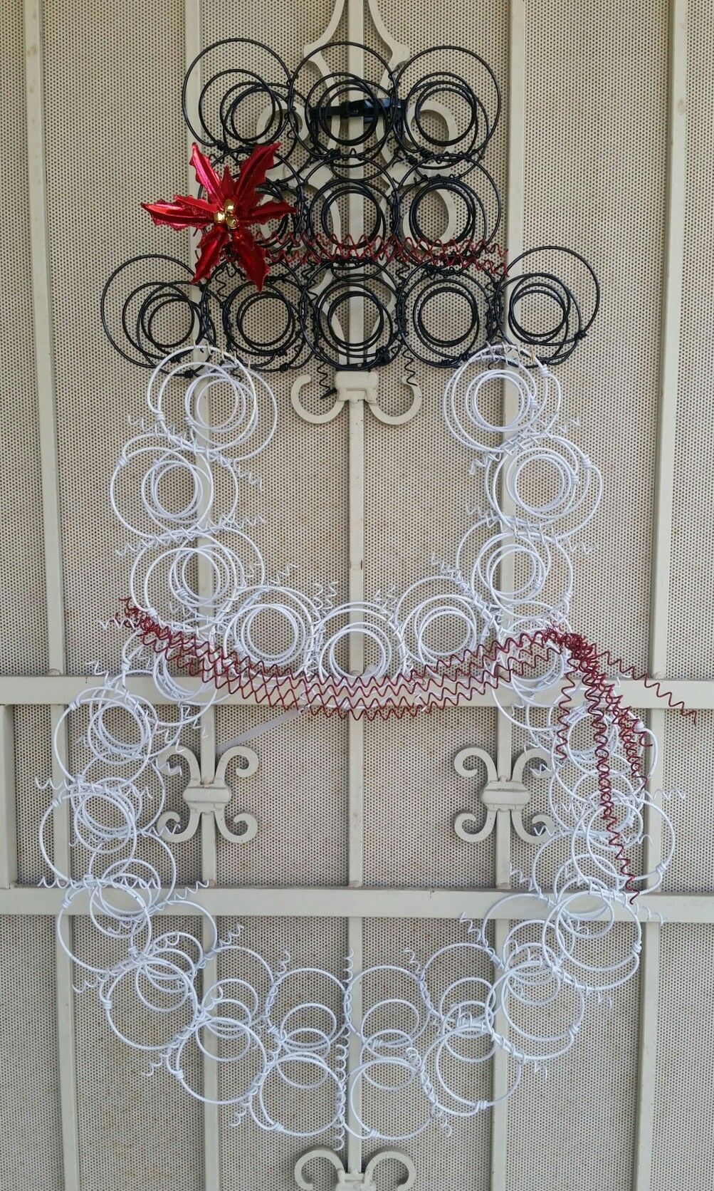 Love my Snowman!! I made him from bed springs...easy DIY By: Tami ...