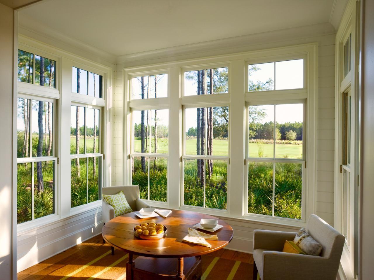Window ideas for a sunroom  photos  hgtv  sunporch  pinterest  minimal decor sunroom and cozy