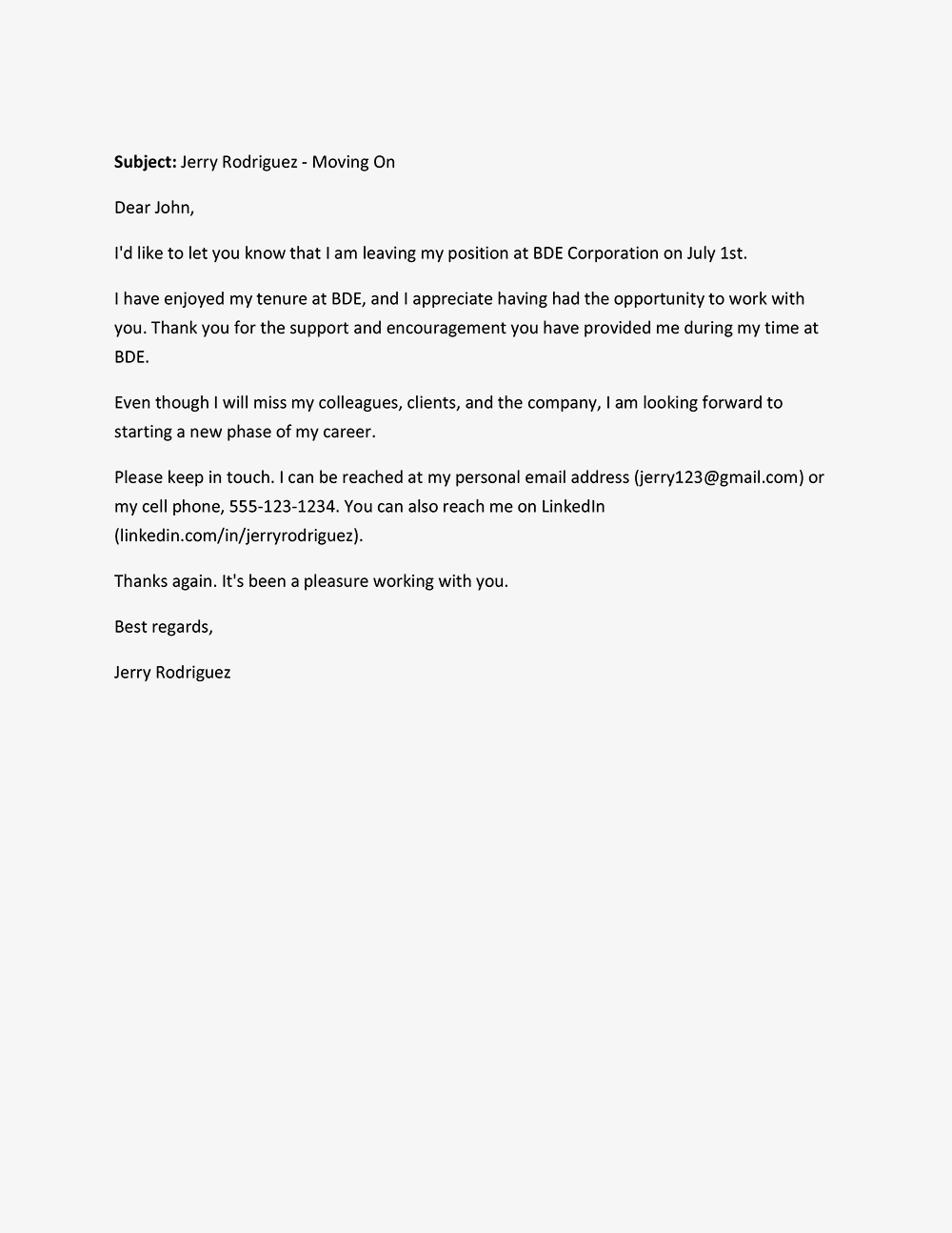 Screenshot Of A Farewell Letter Sample Goodbye Coworker