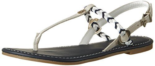 M1285onica 14d3, Chancletas para Mujer, Azul (Turkish Stone), 37 EU Tommy Hilfiger