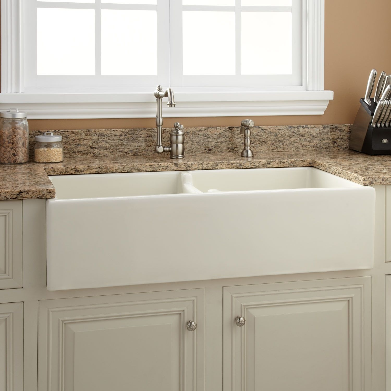 42 cast iron wallhung kitchen sink with drainboard