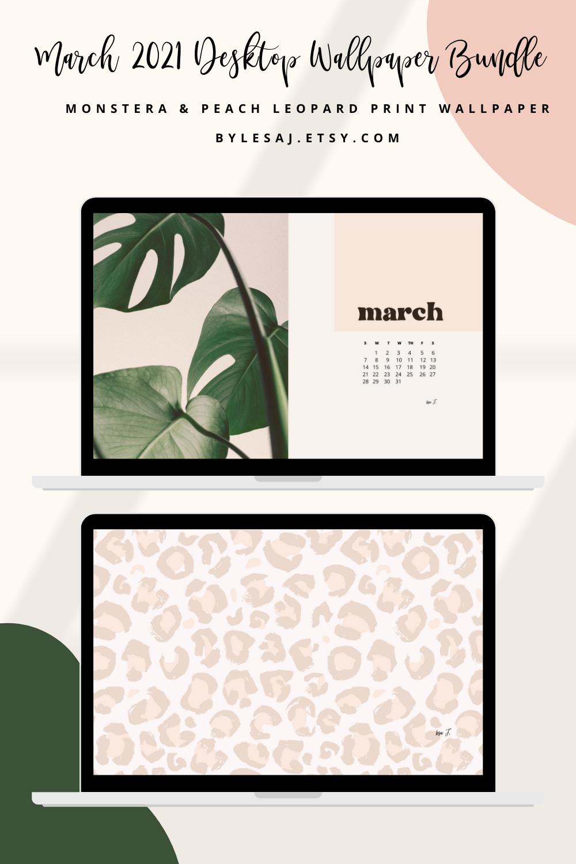 March desktop wallpapers, Calendar wallpaper, Leopard print wallpaper, Aesthetic wallpaper, ByLesa-J