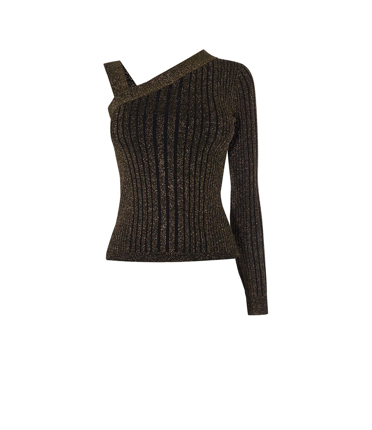 6ce82c8250742 KNITTED ONE-SHOULDER TOP