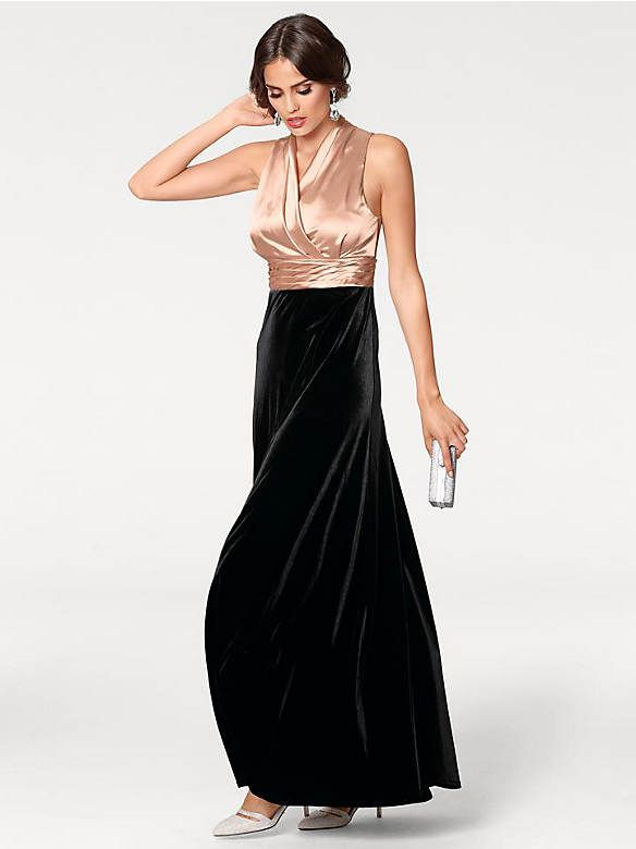 6acac15d242956 heine TIMELESS - Abendkleid Materialmix im heine Online-Shop ➤ Jetzt  günstig bestellen auf heine.de. rosé/schwarz