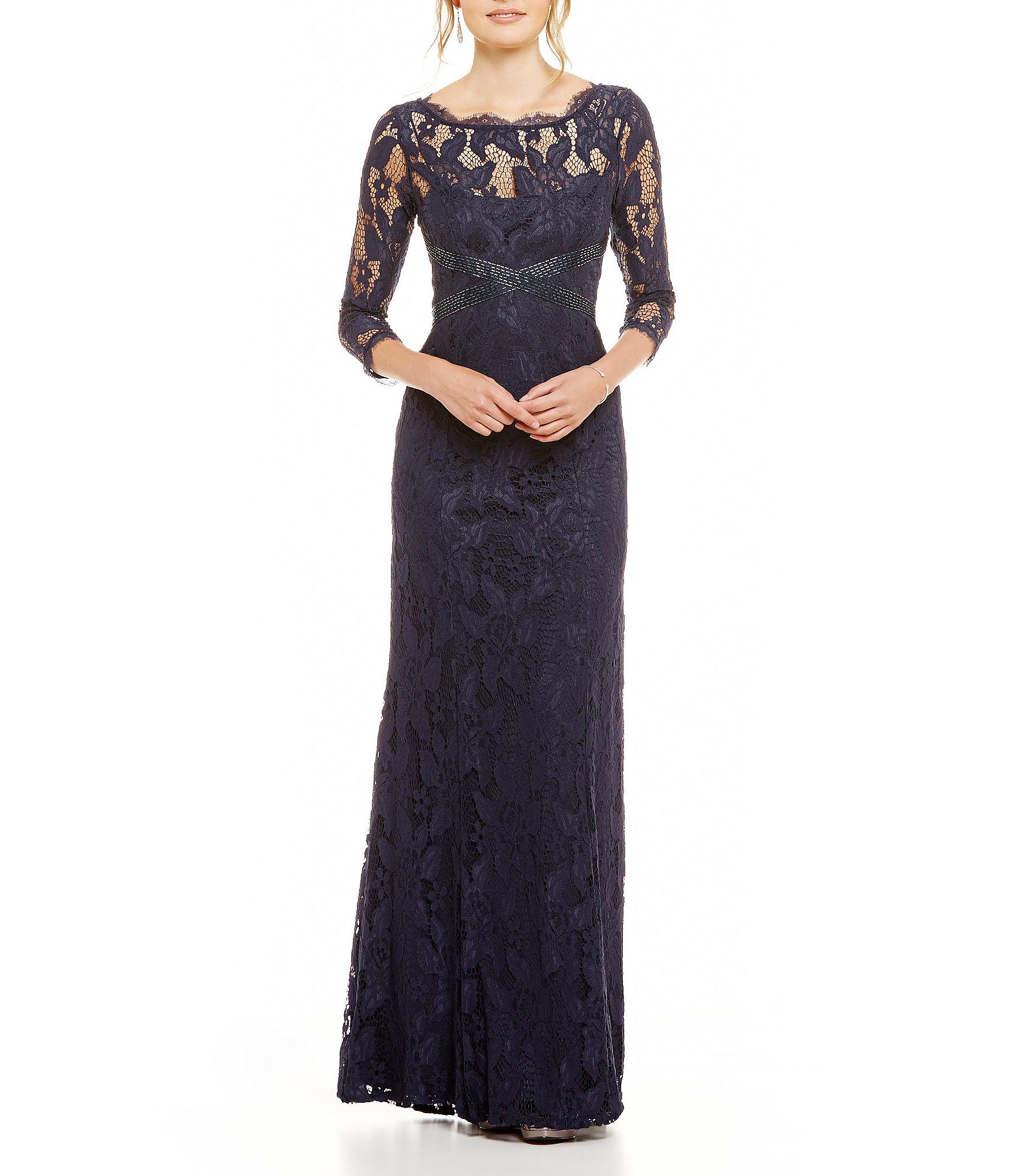 1594e277fdd Shop for Adrianna Papell Beaded Lace 3 4 Sleeve Gown at Dillards.com. Visit  Dillards.com to find clothing