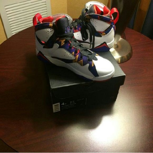 Jordon 7s I only wore them 4 times make me an offer people  and yes i do trades Jordan Other