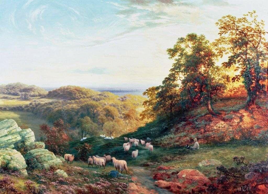 Vicat Cole Landscape, Dog paintings, Fine art america