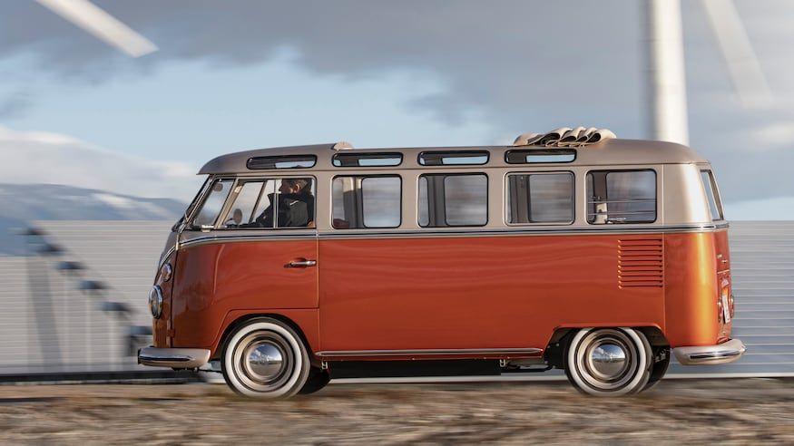 2020 Volkswagen E Bulli Brings Electric Power To Hippie Era Buses In 2020 Dream Car Garage Dream Cars Car