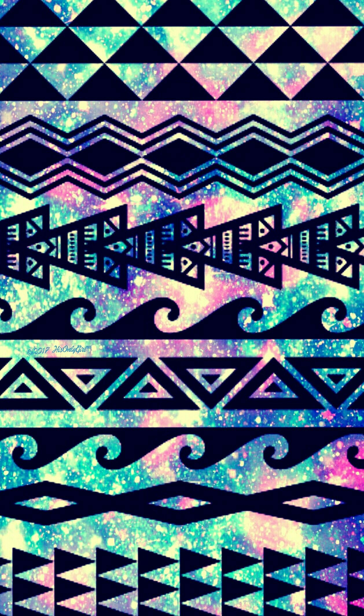 Tribal Galaxy IPhone Android Wallpaper I Created For The App CocoPPa Cocoppa Phonewallpaper