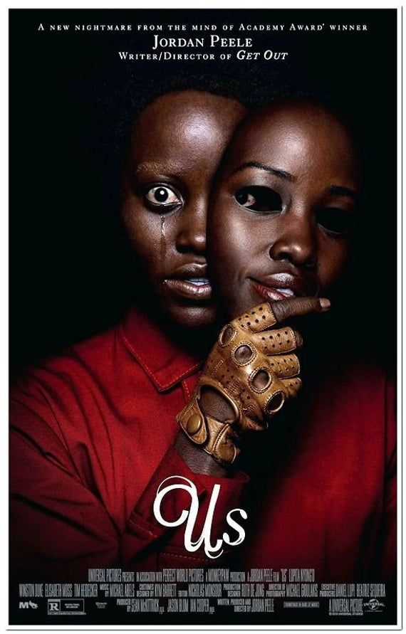 US - 2019 - original 27x40 D/S Horror Movie Poster - Final Style - Lupita Nyong'o, Yahya Abdul-Mateen II, Elisabeth Moss, Winston Duke