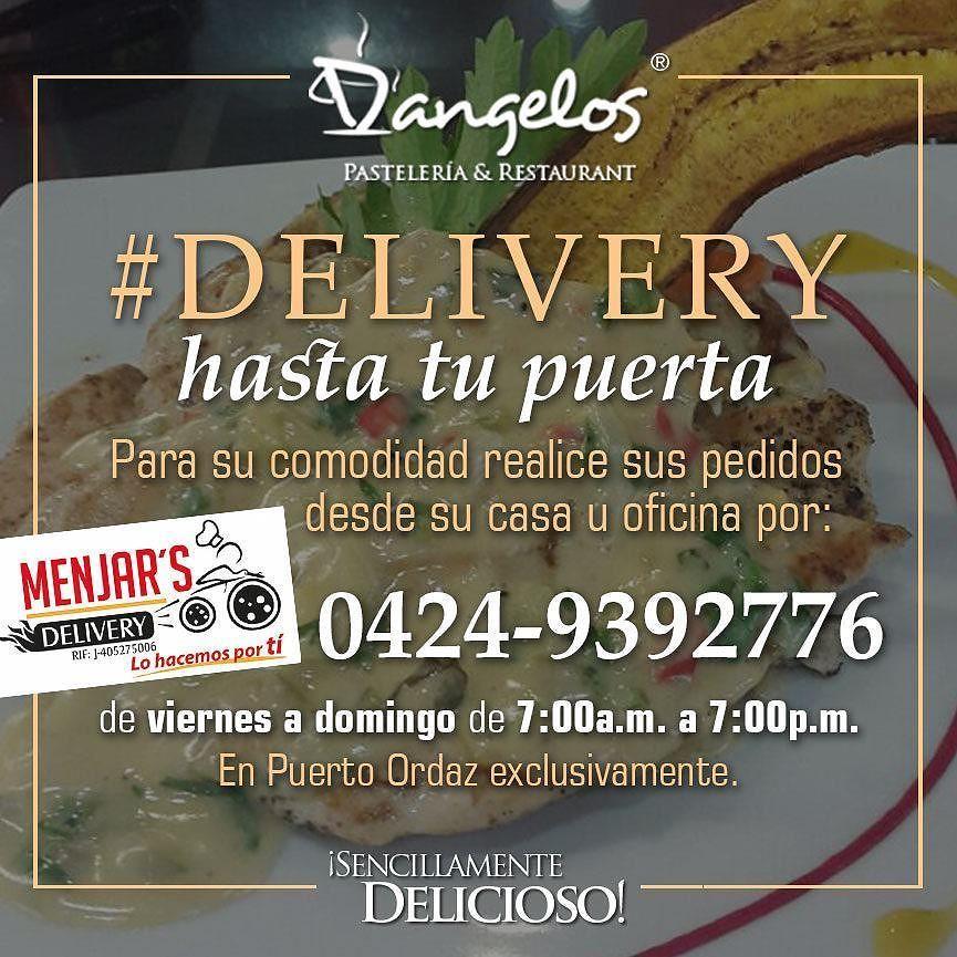 #Delivery por 0424-9392776 de VIERNES a DOMINGO de 7:00a.m. a 7:00p.m. hasta tu puerta con @menjars_delivery #PZO #Guayana #Gastronomía