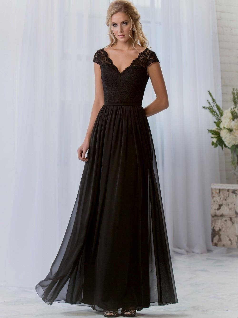 Image result for bridesmaid dresses long and black wedding wear image result for bridesmaid dresses long and black ombrellifo Gallery