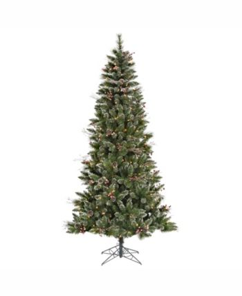 Vickerman 4.5 ft Snow Tipped Pine And Berry Artificial Christmas Tree