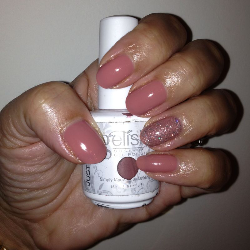 Gelish Simply Mauv-elous Dahling with June Bride Ring Fingers ...