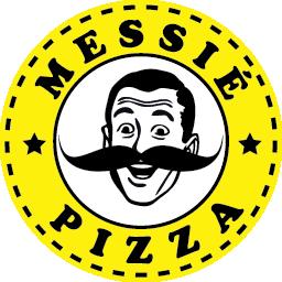 Pizza! Messie Pizza en Barcelona! Mustache!